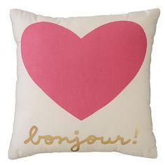 Bonjour Heart Pillow   The Land of Nod