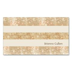 Fun Retro Gold FAUX Sequin Stripes Modern Business Card Templates. This is a fully customizable business card and available on several paper types for your needs. You can upload your own image or use the image as is. Just click this template to get started!