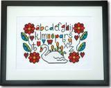 Swan Sampler Cross Stitch Pattern Instant Download