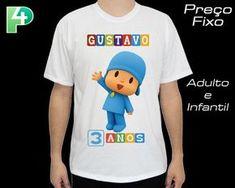 aab4392f6d Camiseta Pocoyo Camisa Personalizada 1 Camiseta de ótima qualidade com  ótimo caimento. A estampa é