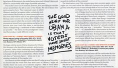 Want more drama? Try using all-cap marker hand lettering. The New York Times Magazine.