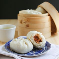 "Dim Sum Recipe Steamed BBQ Pork Buns - NOTE: do not use so much oyster sauce in meat.maybe just do regular BBQ to make less ""fishy"" tasting. Buns are delicious! Steam Buns Recipe, Bun Recipe, Tea Recipes, Cooking Recipes, Pork Recipes, Steamed Pork Buns, Steamed Dim Sum Recipe, Steamed Dumplings, Asia Food"