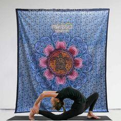 tortoise flower mandala tapestry hippie wall hanging bohemian yoga Bedspread art #Rainbowhandicraft #ArtDecoStyle