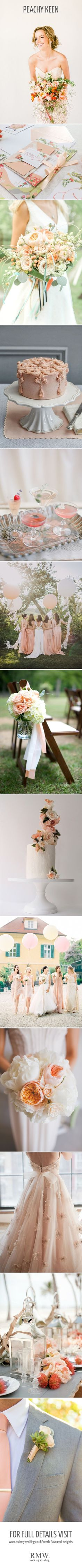 peach and coral colour inspiration for a wedding | Wedding Ideas | Peach / Coral Mood Board | http://www.rockmywedding.co.uk/peach-flavoured-delights/
