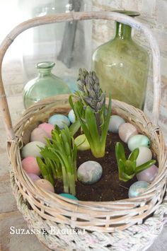 s these are the hottest diy spring trends of 2016, crafts, seasonal holiday decor, Use baskets for this year s container gardens