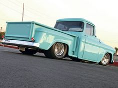 A custom 1955 Chevy Pickup built by Harold Davis - Custom Classic Trucks Magazine