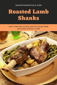 There is nothing more extravagant than this easy Roasted Lamb Shanks recipe for a special dinner. Especially if your are making a dinner for two. Roast Lamb Shank Recipe, Lamb Recipes, Cooking Recipes, Meat Doneness, Roasted Lamb Shanks, My Favorite Food, Favorite Recipes, Mint Sauce, Dinner For Two