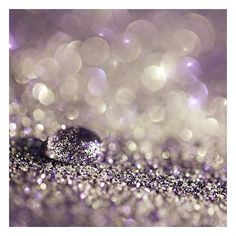 Purple Glitter Decor Photograph pastel lilac lavender white silver... ❤ liked on Polyvore