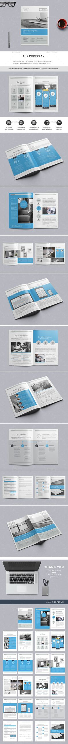 Proposal Proposals, Adobe indesign and Brochure template - proposal layouts