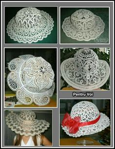 No pattern-inspiration only- Thread Crochet, Knit Crochet, Crochet Hats, Lace Patterns, Crochet Patterns, Victorian Lace, Lacemaking, Parchment Craft, Point Lace