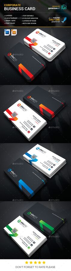 Soft Business Card - Corporate Business Card Template Vector EPS, Vector AI. Download here: http://graphicriver.net/item/soft-business-card/16427737?ref=yinkira