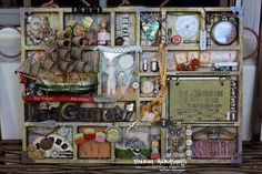 ...The Night Owl Scrapper...: Tim Holtz Altered Printer's Tray