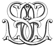 SL custom monogram designed by Kathryn at Number Four Eleven.