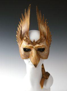 Gryffon / wearable half mask by TheArtOfTheMask on Etsy, $215.00