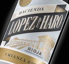 Hacienda Lopez de Haro Crianza #rioja #packaging #design #wine #spanishwine