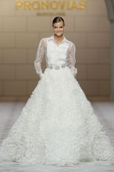Pronovias 2015...Wow, sophisticate, bridal, & modern. Get that designer look without the designer $$$, have it custom-made. Pick 1 or 2 details to design that unique look.