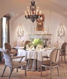 Designer Dan Carithers townhouse dining room.