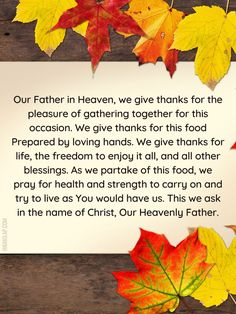 Thanksgiving Prayer, Our Father In Heaven, Enjoy It, Give Thanks, Psalms, Gratitude, Prayers, Blessed, Thankful
