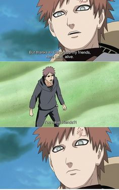 "Naruto Shippuden » Humor » Moment | Gaara and this father: ""You have friends?!"" 