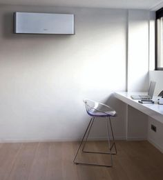 A Small Air Conditioner For Room On The Wall