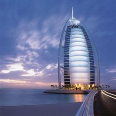Burj Al Arab Dubai is luxury with the restaurant underwater and a circle tennis court at the top!!!
