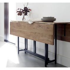 Home cutting tables and furniture on pinterest - Slim folding dining table ...