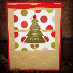Krystal's Cards: Stampin' Up! Peaceful Pines - Christmas Spirit #stampinup #krystals_cards #peacefulpines #christmascard #handmadefortheholidays #handstamped #papercrafts #cardmaking