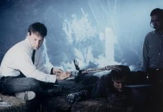 Army of Darkness - behind the scenes - Sam Raimi and Bruce Campbell
