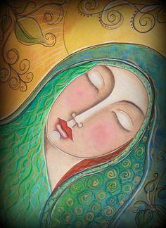 Sacred Feminine  Divine Mary Magdalene Fine Art by JadeScarlett, $30.00
