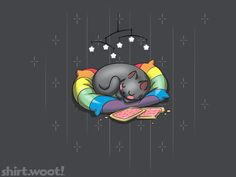 Nyan's Dreams | ShirtWoot!  2nd place in Derby #238: Kitties!, with 832 votes!