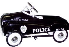 Features:  -Material: Metal.  Product Type: -Police car and fire truck.  Color: -Black.  Primary Material: -Metal.  Wheels Included: -Yes.  Age Group: -3 to 4 Years.  Ride-On Type: -Pedal.  Seating Ca