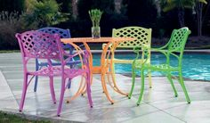 Cross Weave Patio Bistro Set - - eclectic - patio furniture and outdoor furniture - atlanta - by Iron Accents.love the green! Painting Patio Furniture, Metal Patio Furniture, Garden Furniture, Outdoor Furniture Sets, Furniture Redo, Furniture Ideas, Patio Chairs, Outdoor Chairs, Outdoor Decor
