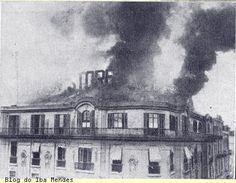 Incêncio Mappin Stores, Praça do Patriarca, 1922. Iba Mendes: EVENTOS