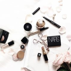Picture perfect flatlay with light hints of pink