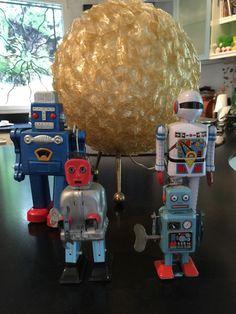 Robot mécanique vintage en tôle par sosthen sur Etsy