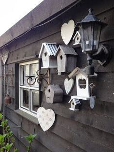 Are you looking garden shed plans? I have here few tips and suggestions on how to create the perfect garden shed plans for you. Bird Houses Painted, Painted Birdhouses, Bird Boxes, Shed Plans, Yard Art, Garden Projects, Garden Inspiration, Bird Feeders, Outdoor Gardens