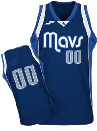SilverSportWear Uniforme basquetbol varonil Mavs color marino/azul rey