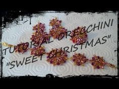 "Tutorial Perline: Parure ""Sweet Christmas"" realizzata con superduo e bicono swarovski - YouTube"