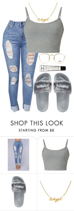 """Still Think About You x A Boogie✂"" by ssophiiia ❤ liked on Polyvore featuring Puma, Ray-Ban and M.A.C"