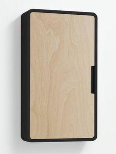 Seinäkaappi Style 40 etuosat puu koivuvaneri/runko musta