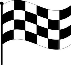 Two Funny Race Cars On Race Track With Finish Line And Checkered