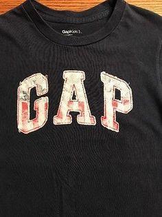 Gap Kids Boys Size Small, 6-7 American Flag Logo  Short Sleeve Tee Shirt  | eBay