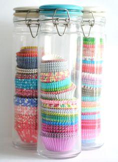 cupcake liner storage | Torie Jayne