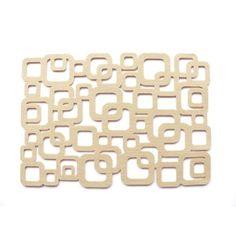CUBE plate pads 4pcs set - Boogie Design  Plate pads made of polyester felt (4 pcs set)