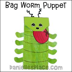 Squirmy the Worm Paper Bag Worm Puppet Bible Craft from www.daniellesplace.com