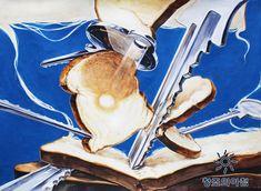 기초디자인 동덕여대 기디 입시미술 기초디자인 식빵 열쇠 일러스트 디자인 동덕여자대학교 재현작