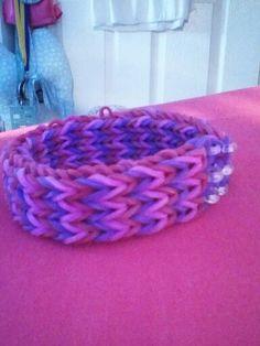 Loom band bracelet! Made it myself!
