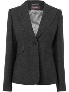 Wool mix grey blazer - great for layering with knitwear and creating a smarter sleeker silhouette.