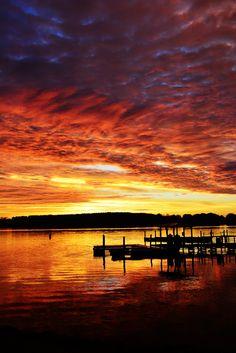 Sunrise On Lake Norman North Carolina