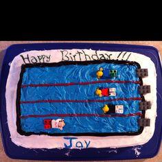 Lego swim cake